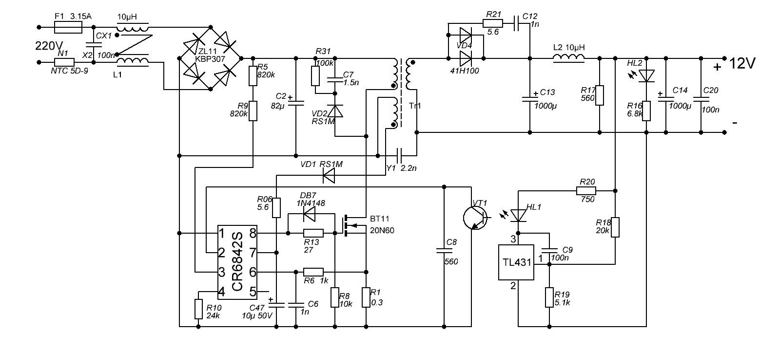 Схема я на irf840